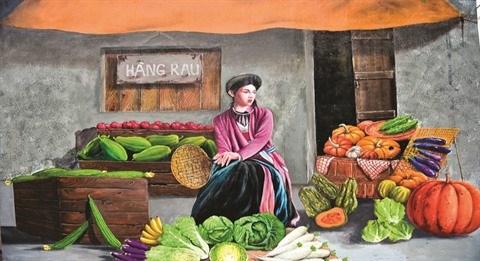 Chu Xa, le premier village de fresques a Hanoi hinh anh 2