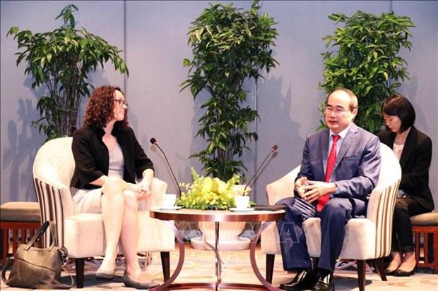 Une delegation du Land de Hesse en visite de travail a Ho Chi Minh-Ville hinh anh 1
