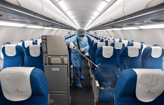 Vietnam Airlines: desinfection des vols internationaux de retour au Vietnam hinh anh 1