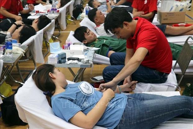 Itineraire rouge 2020 : plus de 800 unites de sang collectees dans la ville de Vung Tau hinh anh 1