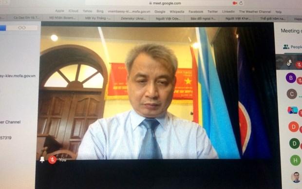 La communaute des Vietnamiens en Ukraine s'unit pour lutter contre le COVID-19 hinh anh 1
