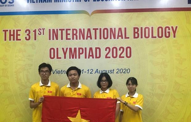 Olympiades internationales de biologie : tous les Vietnamiens ont ete primes hinh anh 1