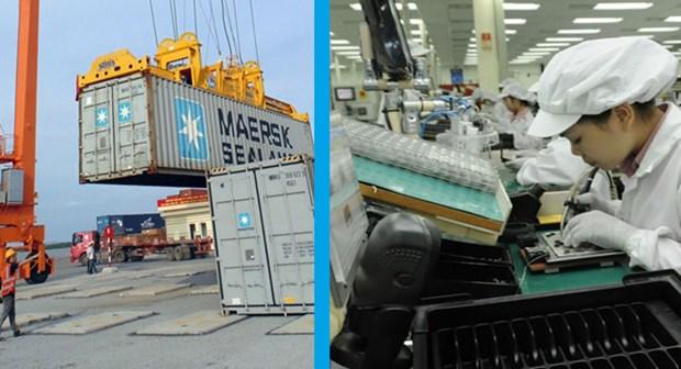 Le Vietnam enregistre un excedent commercial de 11,9 milliards de dollars en huit mois hinh anh 1