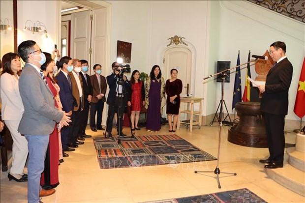 Celebration de la Fete nationale du Vietnam dans certains pays europeens hinh anh 1