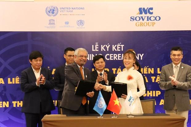 Le groupe SOVICO devient un partenaire strategique des Nations Unies hinh anh 1