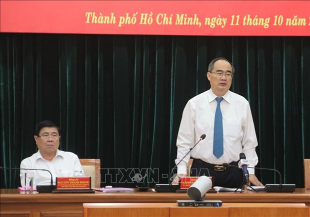 Ho Chi Minh-Ville acheve les derniers preparatifs du Congres de l'organisation locale du Parti hinh anh 1
