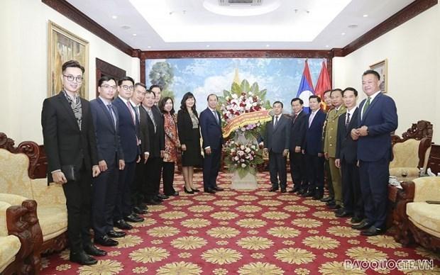 Les relations d'amitie Vietnam-Laos ne cessent de se developper hinh anh 1