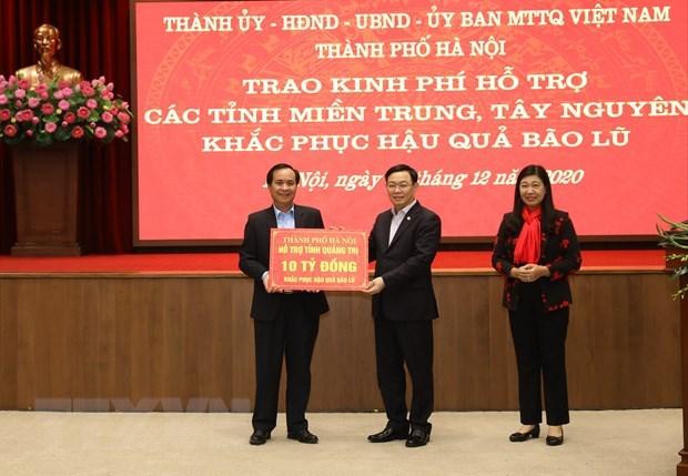 Hanoi vient en aide aux sinistres du Centre et des Hauts Plateaux du Centre hinh anh 1