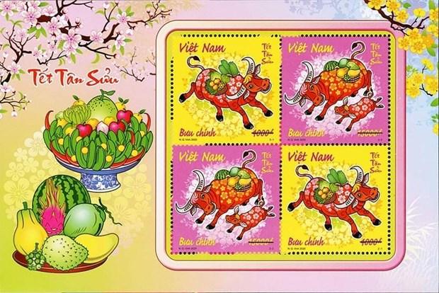 Emission de timbres pour saluer l'Annee du buffle 2021 hinh anh 1