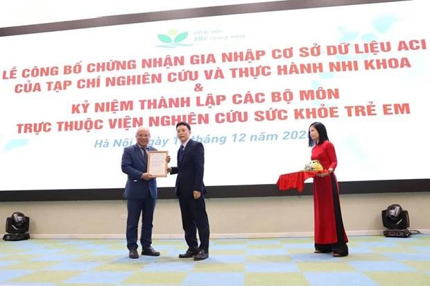 Le Journal vietnamien de pediatrie est integre dans la base de donnees ASEAN-ACI hinh anh 1