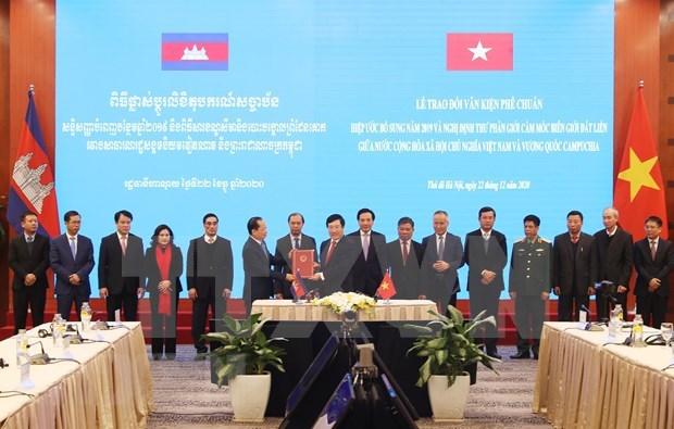 La 18e session du Comite mixte Vietnam-Cambodge hinh anh 1