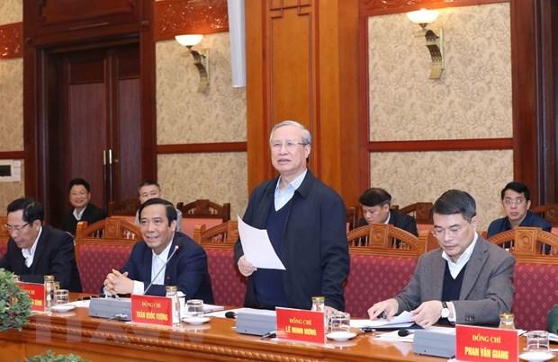 La 6e reunion du sous-comite d'organisation au service du 13e Congres national du Parti hinh anh 1