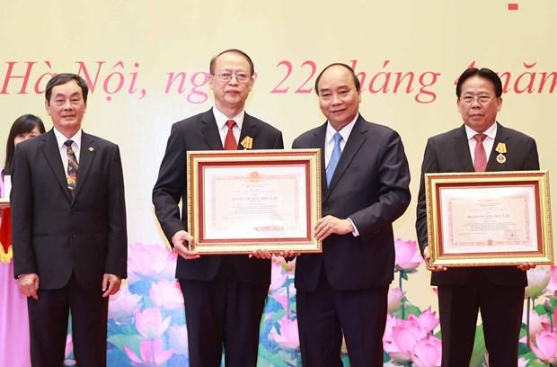 Des scientifiques exceptionnels de l'Union des Associations scientifiques et technologiques honores hinh anh 1