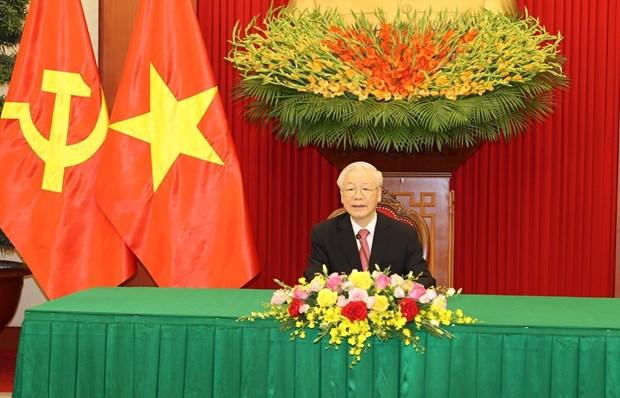 Vietnam-Cuba: conversation telephonique entre Nguyen Phu Trong et Miguel Diaz-Canel Bermudez hinh anh 1