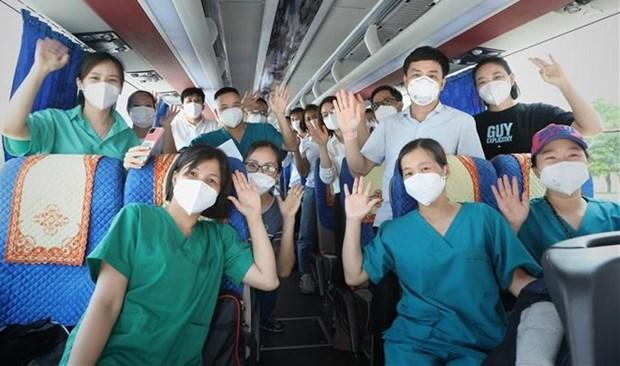 Pres de 4.500 agents medicaux accompagnent Ho Chi Minh-Ville dans sa lutte contre le COVID-19 hinh anh 1