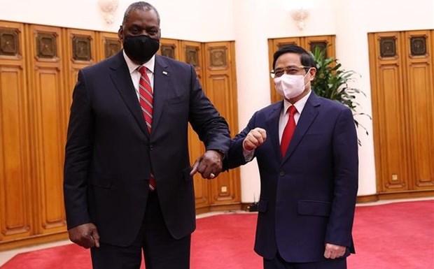 Le Premier ministre Pham Minh Chinh recoit le secretaire a la Defense des Etats-Unis hinh anh 1