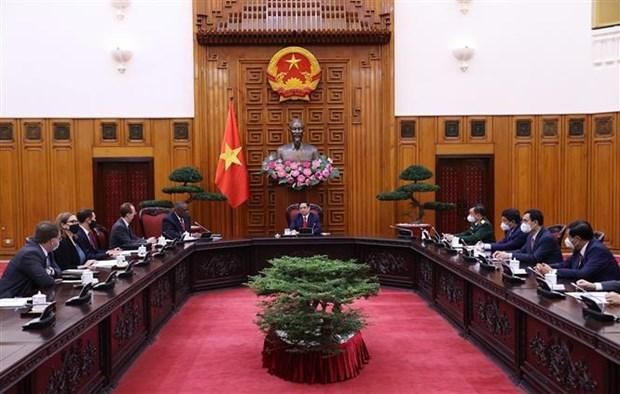 Le Premier ministre Pham Minh Chinh recoit le secretaire a la Defense des Etats-Unis hinh anh 2