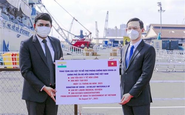Le Vietnam recoit d'Inde un lot d'equipements medicaux hinh anh 2