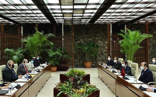 Entrevue entre le president vietnamien et le Premier ministre cubain hinh anh 2