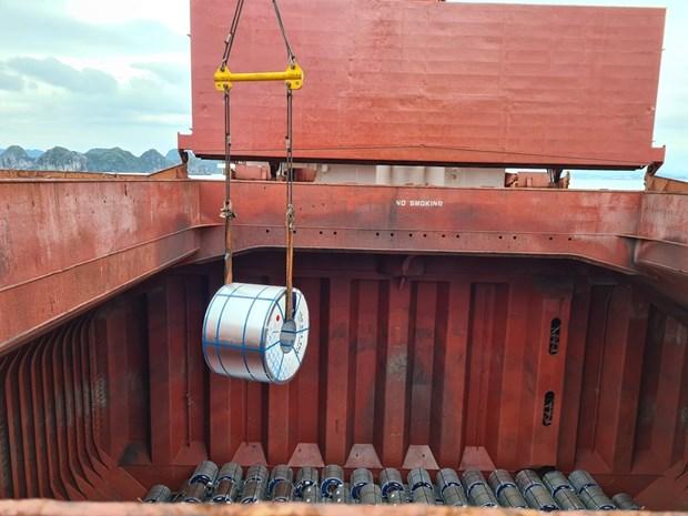 Hoa Phat : les exportations de tole d'acier ont double en septembre hinh anh 1
