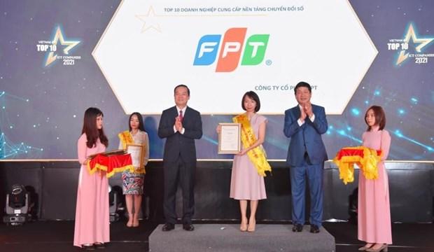 Les dix meilleures entreprises informatiques du Vietnam : FPT remporte de nombreux prix hinh anh 1
