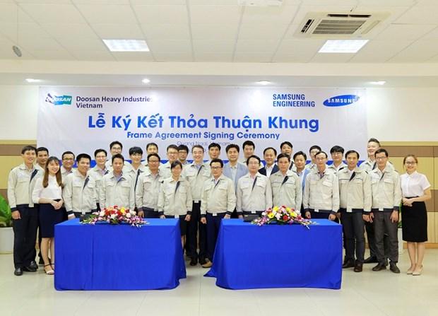 Doosan Vina deploie la premiere commande signee avec Samsung Engineering hinh anh 1