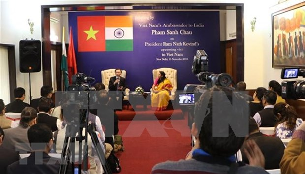 Une conference de presse sur la prochaine visite du president indien au Vietnam hinh anh 1