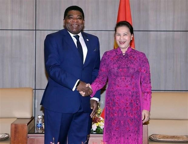 La presidente l'Assemblee nationale recoit le secretaire general de l'UIP hinh anh 1