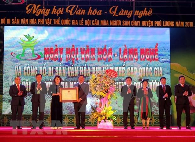 La fete de priere pour une bonne recolte de l'ethnie San Chay inscrite au patrimoine national hinh anh 1