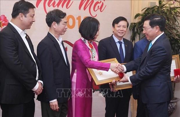 Le ministere des Affaires etrangeres rencontre des medias a l'occasion du Nouvel An 2019 hinh anh 1