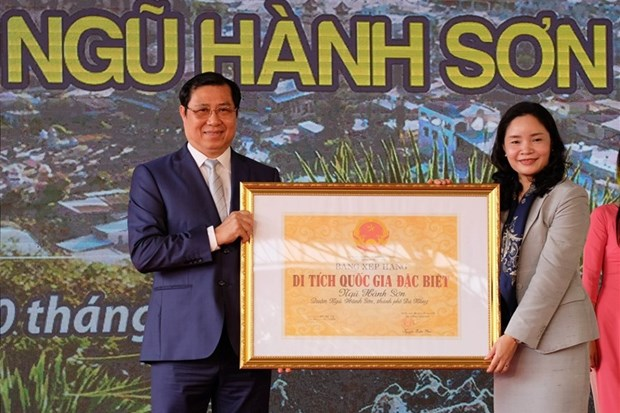 Ngu Hanh Son reconnu site national special hinh anh 1