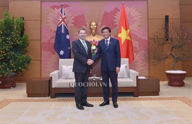 Le secretaire general de l'AN vietnamienne rencontre le president du Senat australien hinh anh 1