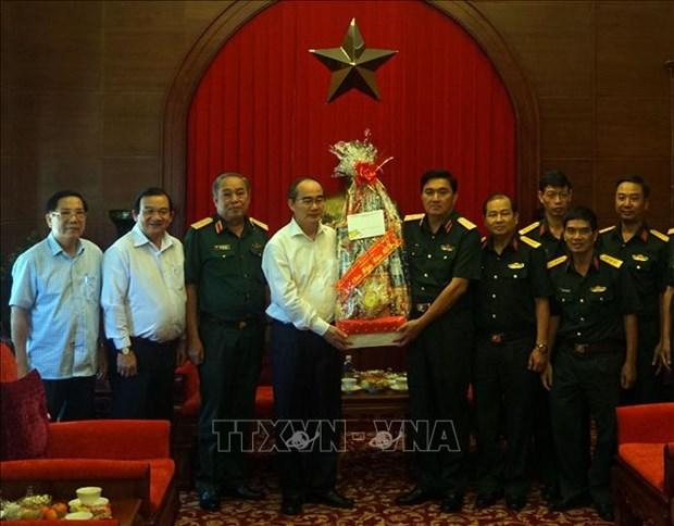 Meilleurs vœux du Tet a des unites des forces armees de Ho Chi Minh-Ville hinh anh 1