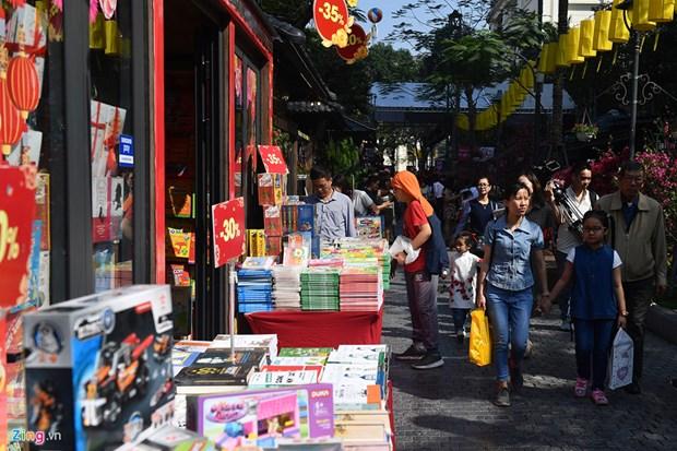 Ouverture de la Rue des livres du printemps de l'Annee du Cochon a Hanoi hinh anh 1