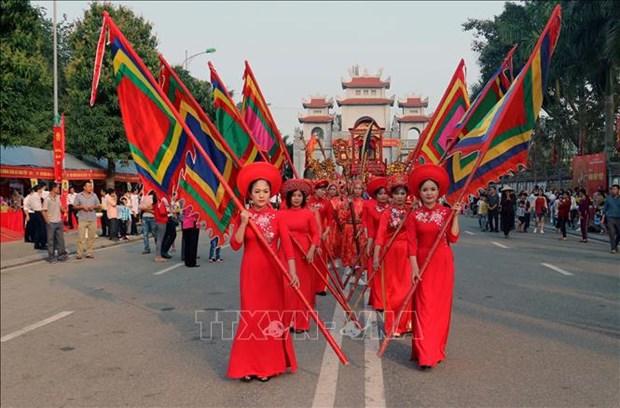 Celebration du 1979e anniversaire de l'insurrection des deux Sœurs Trung a Hanoi hinh anh 1