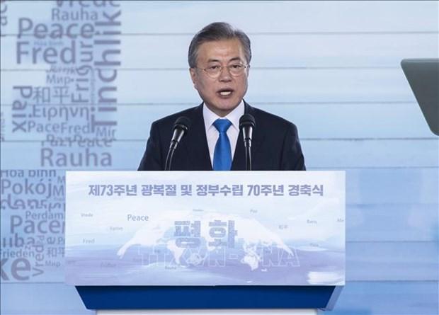 Le president sud-coreen optimiste quant au Sommet Etats-Unis-RPDC prevu a Hanoi hinh anh 1
