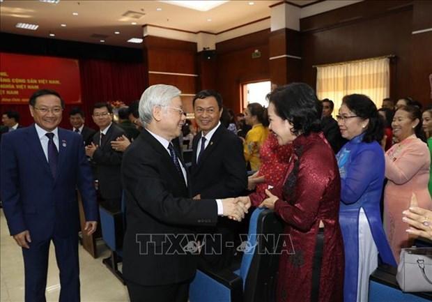 Le dirigeant Nguyen Phu Trong poursuit sa visite officielle d'amitie au Laos hinh anh 1