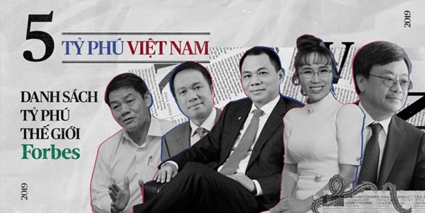 Cinq Vietnamiens parmi les plus riches du monde, selon le classement de Forbes en 2019 hinh anh 1
