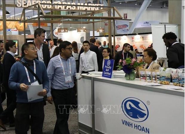 Le Vietnam a l'exposition de produits aquatiques de l'Amerique du Nord a Boston hinh anh 1