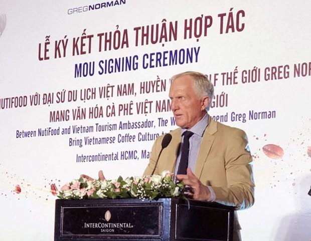 Le legendaire golfeur Greg Norman et NutiFood presentent la culture du cafe vietnamien dans le monde hinh anh 1