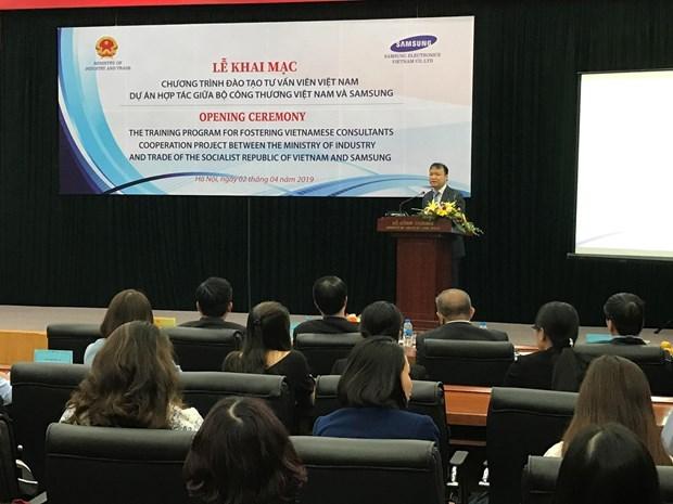 Samsung forme des experts en industries auxiliaires du Vietnam hinh anh 1