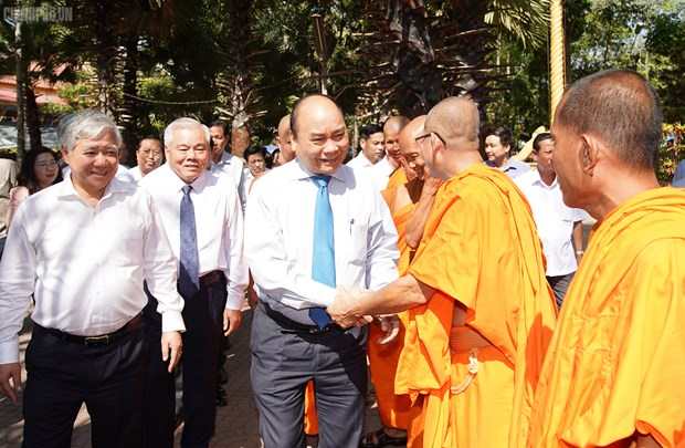 Tet Chol Chnam Thmay: le Premier ministre felicite les Khmers a Soc Trang hinh anh 1