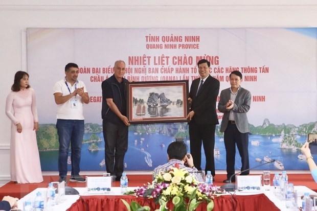 Quang Ninh recoit une delegation de l'OANA hinh anh 1