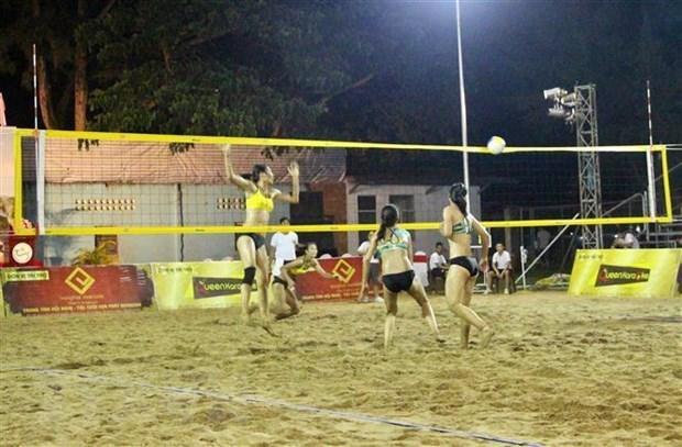 Ouverture du tournoi d'Asie de beach-volley feminin 2019 a Can Tho hinh anh 1
