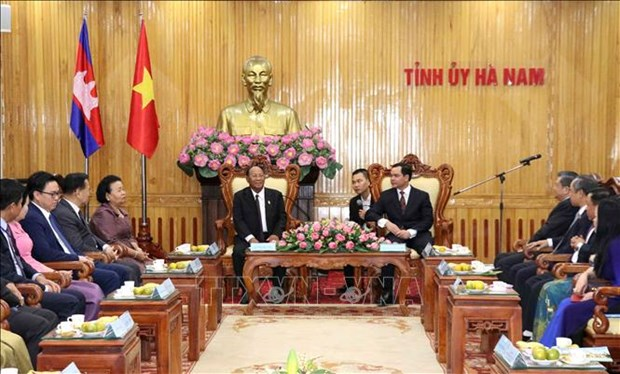 Le president de l'Assemblee nationale cambodgienne a Ha Nam hinh anh 1