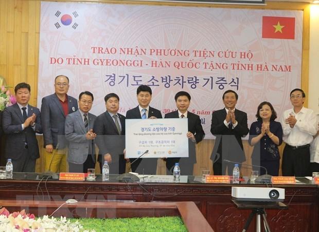 Multiplier les echanges et resserrer la cooperation entre Ha Nam (Vietnam) et Gyeonggi (R. de Coree) hinh anh 1