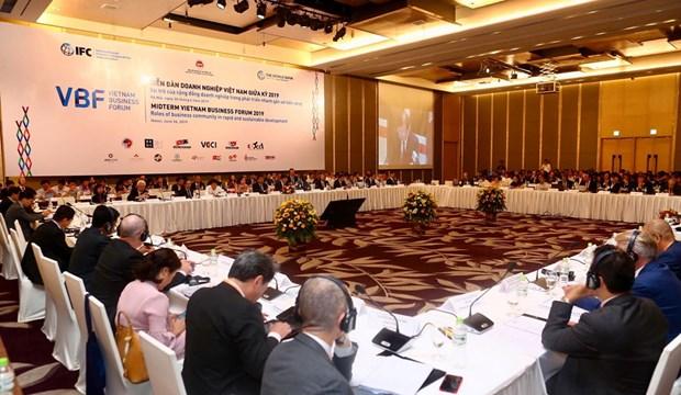 Le Forum d'affaires du Vietnam de mi-mandat 2019 a Hanoi hinh anh 1
