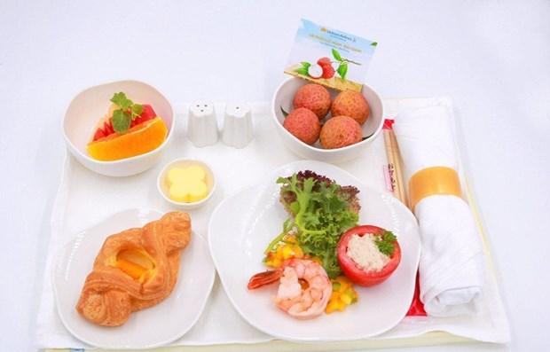 Des litchis « thieu » de Luc Ngan (Bac Giang) servis sur les vols de Vietnam Airlines hinh anh 1