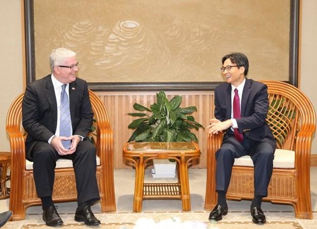 Le vice-Premier ministre Vu Duc Dam recoit l'ambassadeur d'Australie hinh anh 1