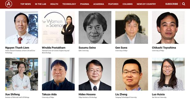 Deux Vietnamiens honores dans la liste des 100 meilleurs scientifiques asiatiques hinh anh 1